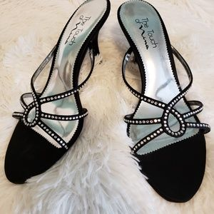 Black dress high heel shoes